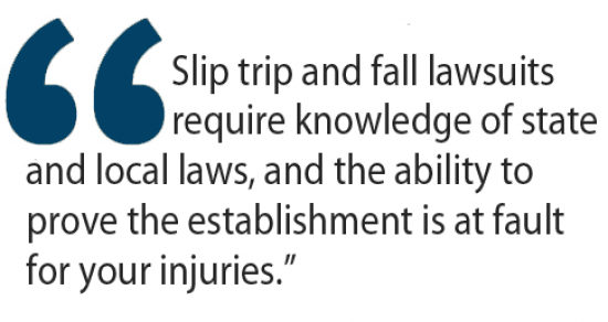 slip trip and fall lawsuits