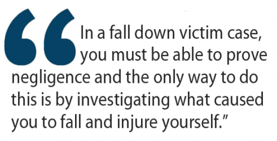 fall down victim case