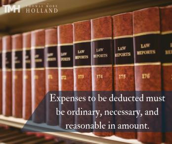 unpaid reimbursement for work related expenses